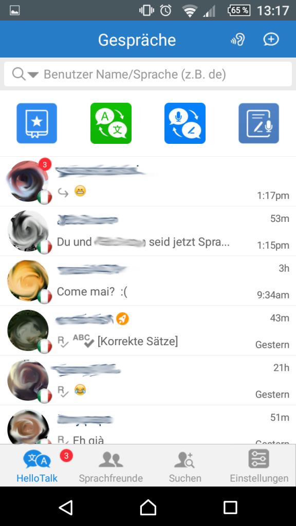 """21-hello-talk-aktive-chats """"Talk To The World"""" - Sprich mit der Welt"""