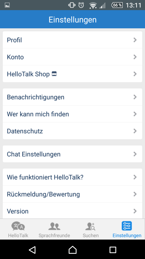 "5-hello-talk-einstellungen ""Talk To The World"" - Sprich mit der Welt"